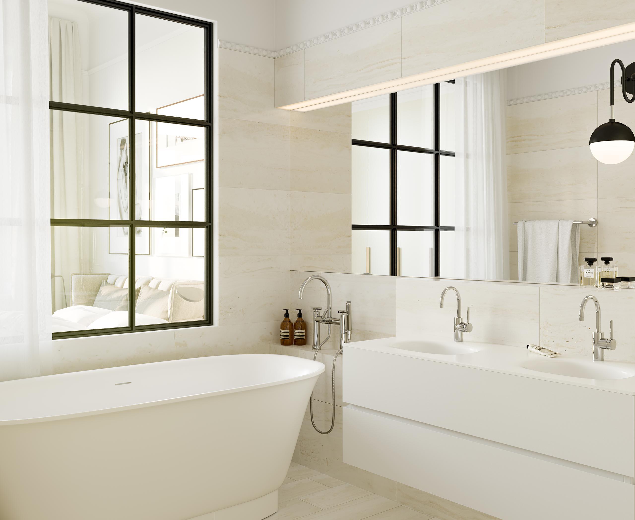 Luxury bathroom visualization