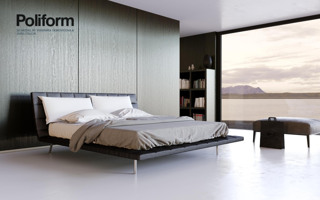Free 3D model of Poliform bed by Talcik&Demovicova